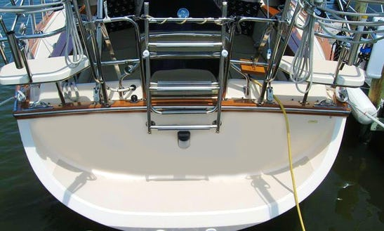 Basic Sailing Lesson On 40' Cruising Sailboat Near Deltaville, Virginia