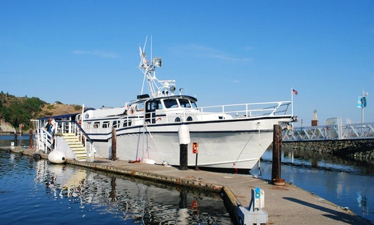100' Trawler Charter In Anacortes, Washington