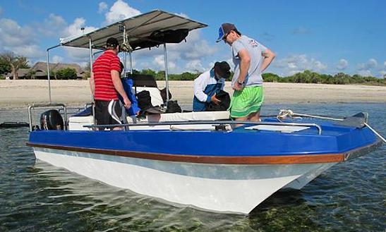 Enjoy Fishing In Paje, Tanzania On 21' Jodari Meno Power Catamaran