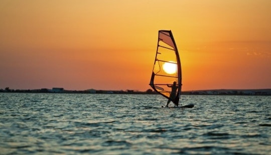 Windsurfing In Dubai, United Arab Emirates