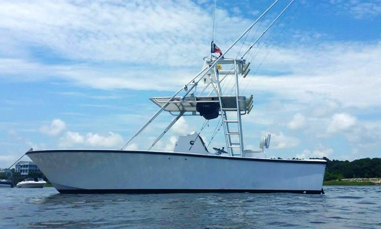 Fishing Charter on Classic Sea Craft Potter Hull in Atlantic Beach, NC