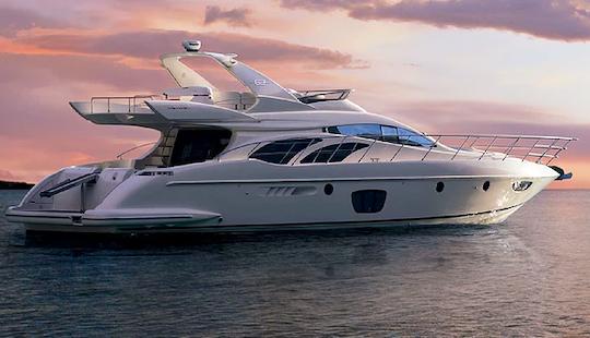 Charter 62' Azimut Power Mega Yacht In Limenas Chersonisou, Greece