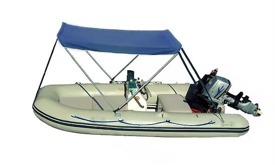 Rent 11' Plastimo Rigid Inflatable Boat In Limenas Chersonisou, Greece