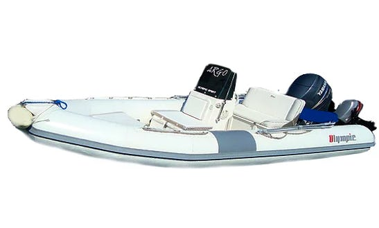 Rent 15' Olympic Rigid Inflatable Boat In Limenas Chersonisou, Greece