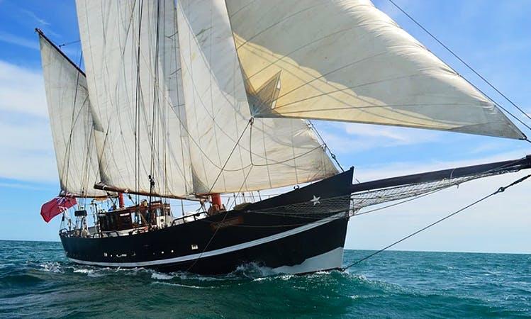Enjoy Swanage, England on Tall Ship