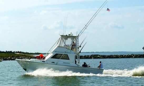 37ft Fishing Charter In Lewes, Delaware With Captain Cher