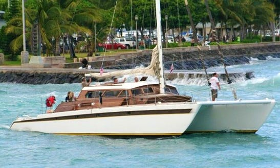 Enjoy 52ft Luxury Catamaran Charter In Honolulu, Hawaii