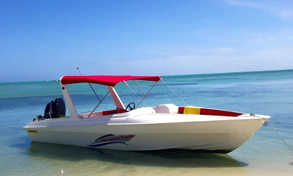 Rent this Resigraft Bowrider in Rivière Noire, Mauritius for up to 10 person