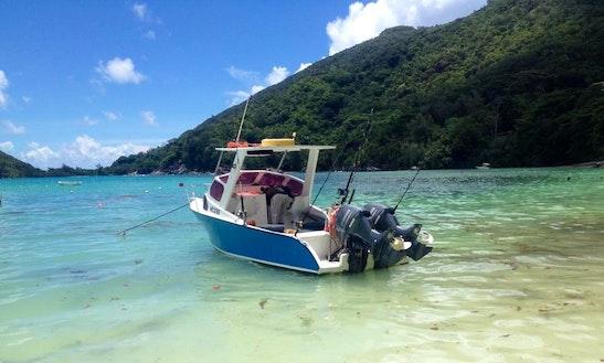 Enjoy Fishing At Port Launay , Seychelles On Cuddy Cabin