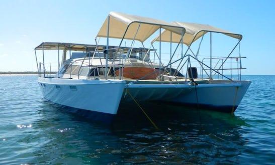 Charter 44' Catsonova Power Catamaran In Vilanculos, Mozambique