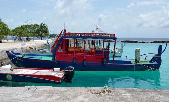 Enjoy Fishing In Keyodhoo, Maldives On Fishing Dhoni Cuddy Cabin
