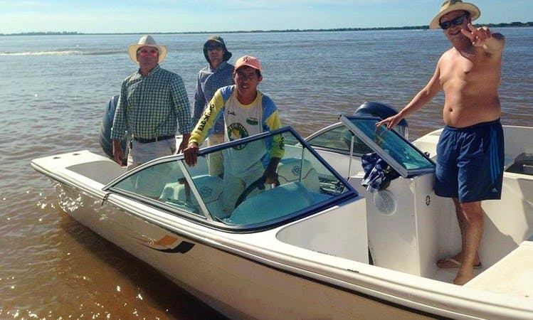Spend time fishing in Paso de la Patria, Argentina on Bowrider