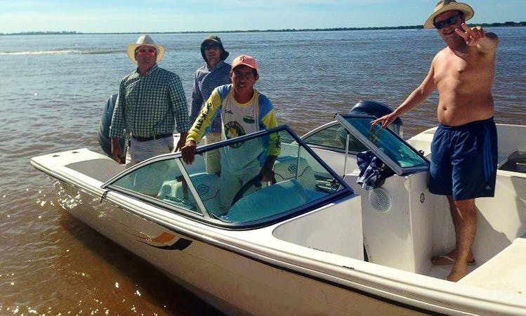 Spend time fishing in Paso de la Patria, Argentina on Bowrider
