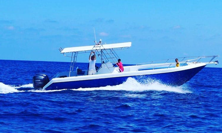 Enjoy Fishing in Seychelles on Center Console