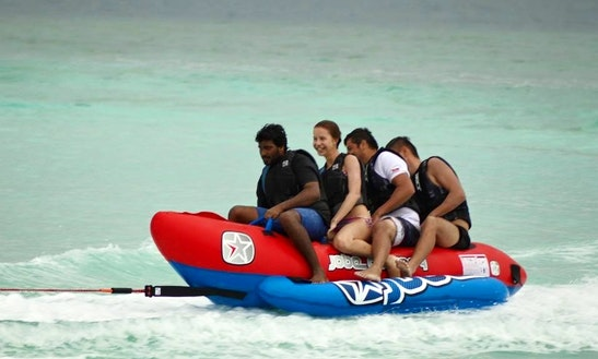 Enjoy Tube Rides In Dhiffushi, Maldive