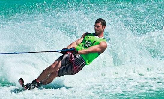 Enjoy Water Skiing In Dhiffushi, Maldives