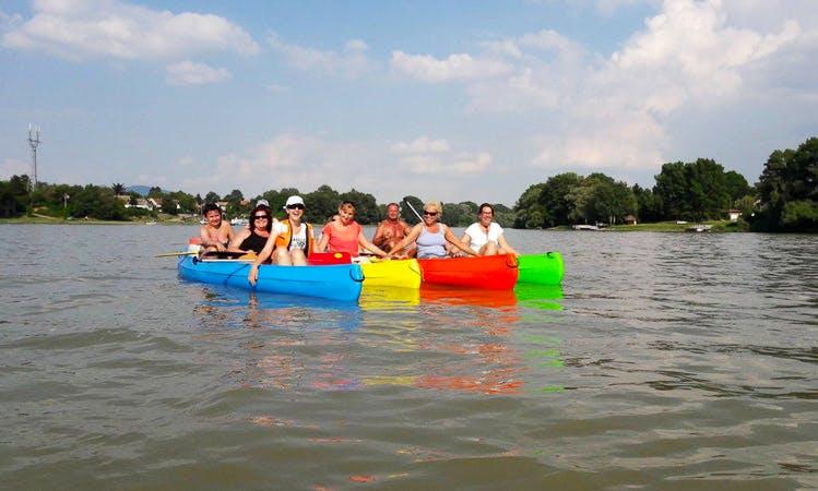 Rent a Tripple Canoe in Dunabogdány, Hungary