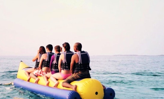 Amazing 5 People Banana Boat Rides In Male, Maldives