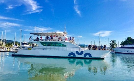90ft Private Catamaran Grand Canuwa In Nuevo Vallarta