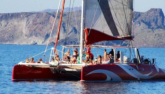 Cruising Catamaran Charter In Santorini
