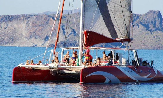 Cruising Catamaran Charter In Santorini