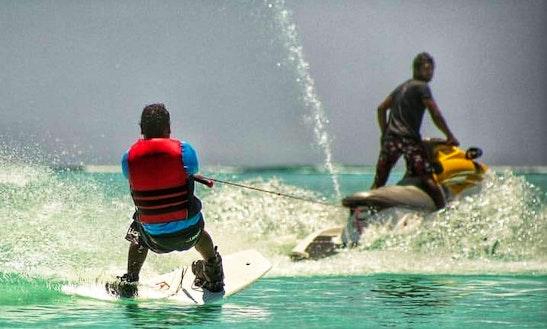 Enjoy Skiing In Mathiveri, Maldives