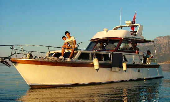 Enjoy Fishing In Antalya, Turkey On A Motor Yacht