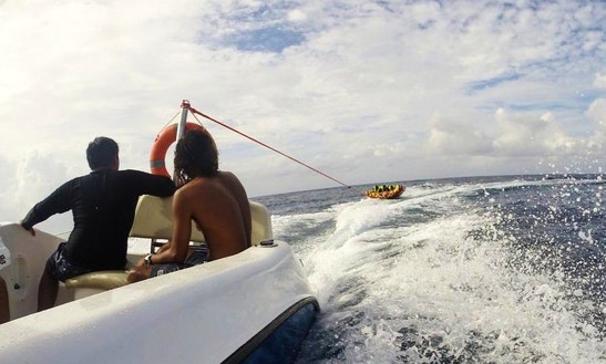 Enjoy Tubing In Thoddoo, Maldives