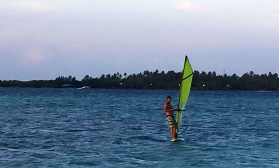 Enjoy Windsurfing In Himmafushi, Maldives