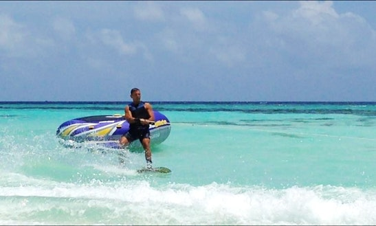 Enjoy Wakeboarding In Himmafushi, Maldives