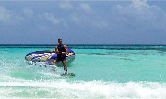 Enjoy Wakeboarding In Himmafushi, Maldives