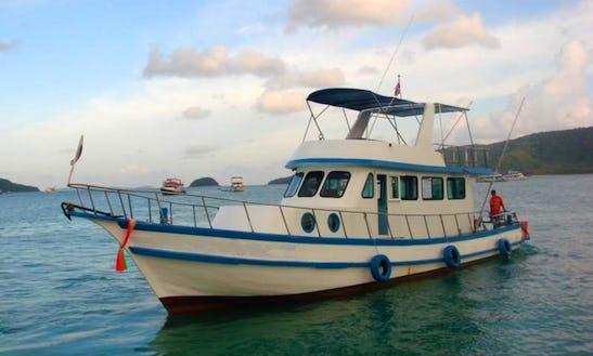 Charter Thai Fishing Cruiser P17 In T. Chalong, Phuket, Thailand.