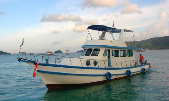 Charter Thai Fishing Cruiser P17 In T. Chalong, Phuket, Thailand.