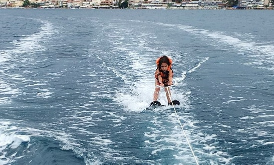 Enjoy Water Skiing In Tolo, Greece