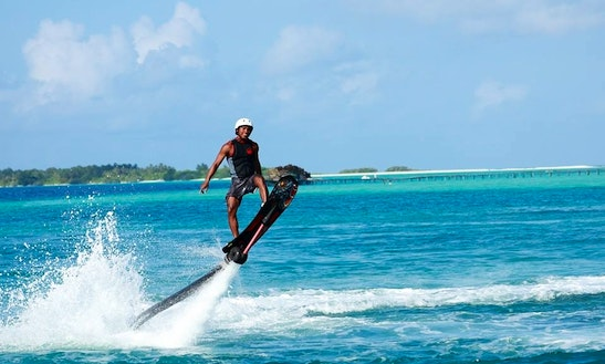 Enjoy Flyboarding In South Ari Atoll, Maldives
