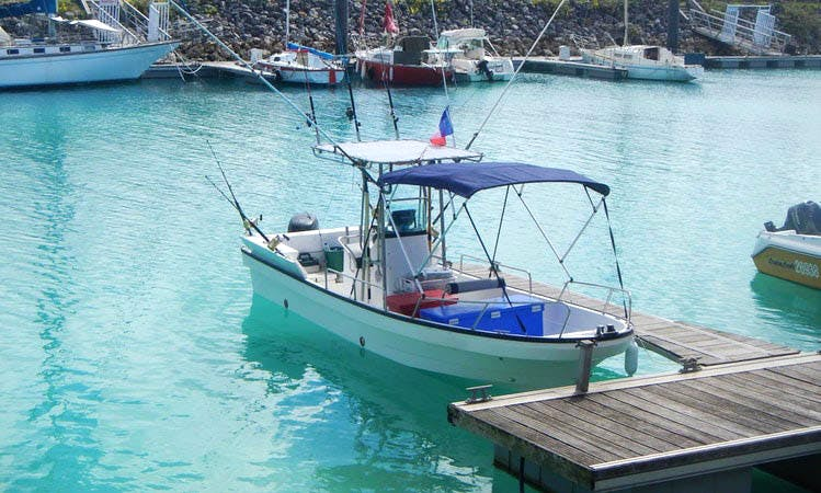 Enjoy Fishing in Lifou, New Caledonia on Panga 23 Center Console