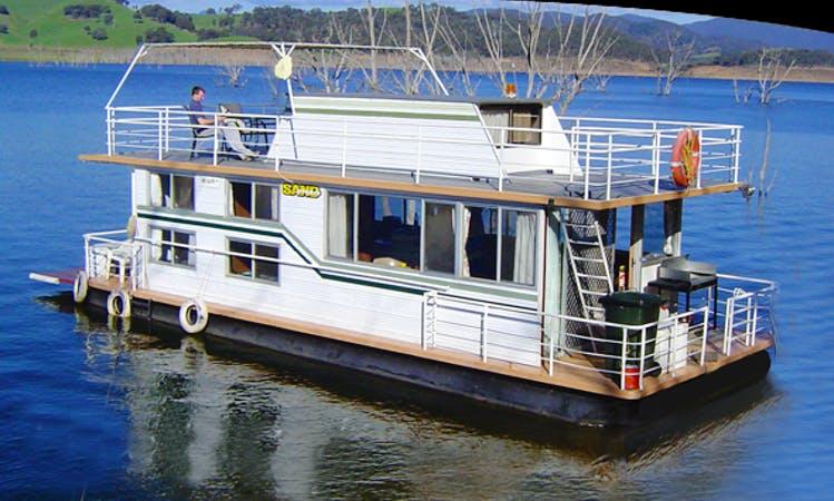 "Captained Luxury Houseboat Hire ""Sandgroper"" in Eildon, Victoria, Australia"