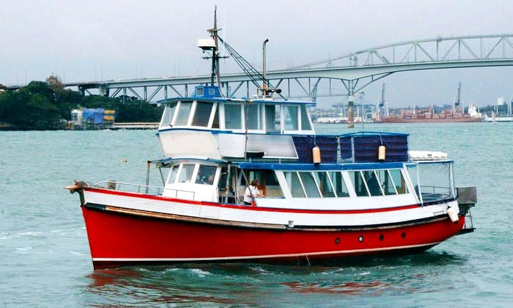 Enjoy on Kaipara River in Auckland, New Zealand on 55' Trawler