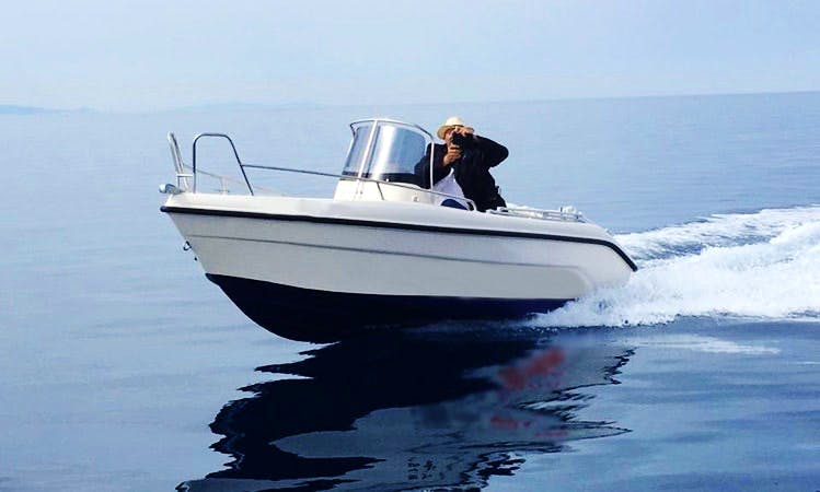 Deck Boat rental in Ornos