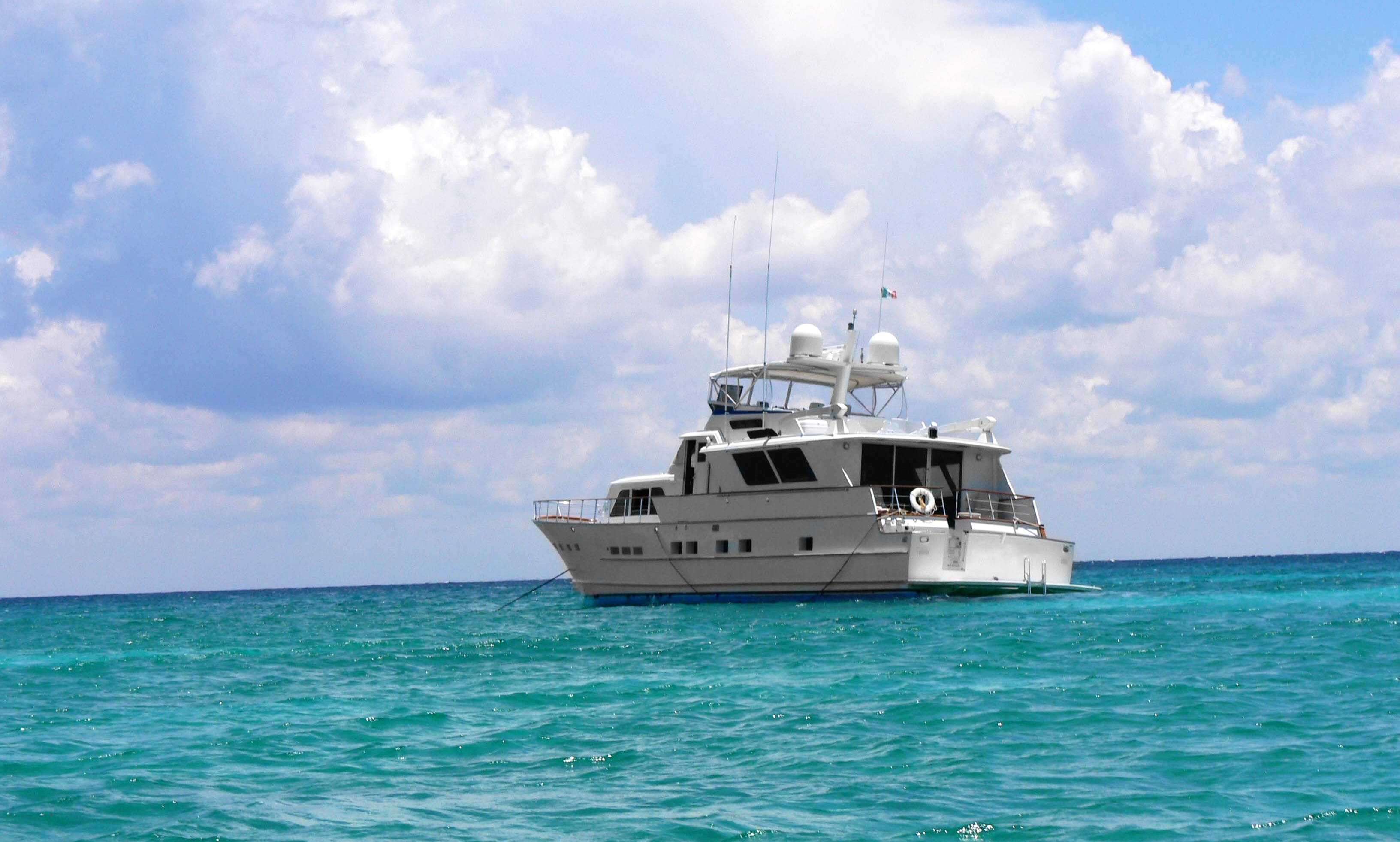 Experience a Fully Equipped 80' Power Mega Yacht near Akumal