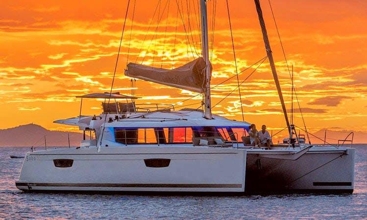"Sailing Charter On 50ft ""Tiziano"" Saba Cruising Catamaran In Mikonos, Greece"