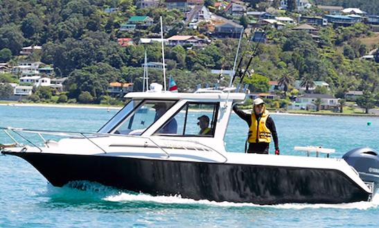 Enjoy Fishing In Tairua, New Zealand On 24' Strikezone Cuddy Cabin