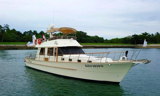 Charter 45' Alaska Motor Yacht In Keppel Bay, Singapore