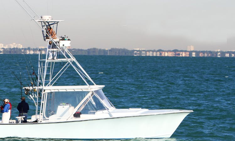 Private Fishing Charters On 34' Sports Fisherman In Miami, FL