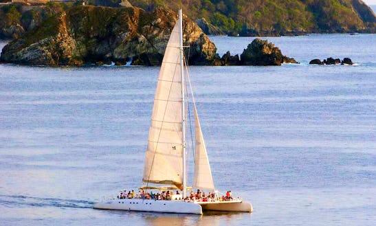Cruising Catamaran In Zihuatanejo