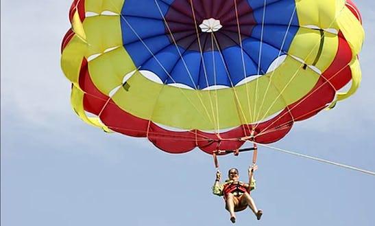 Enjoy Single Parasail Ride In Pile, Larnaka