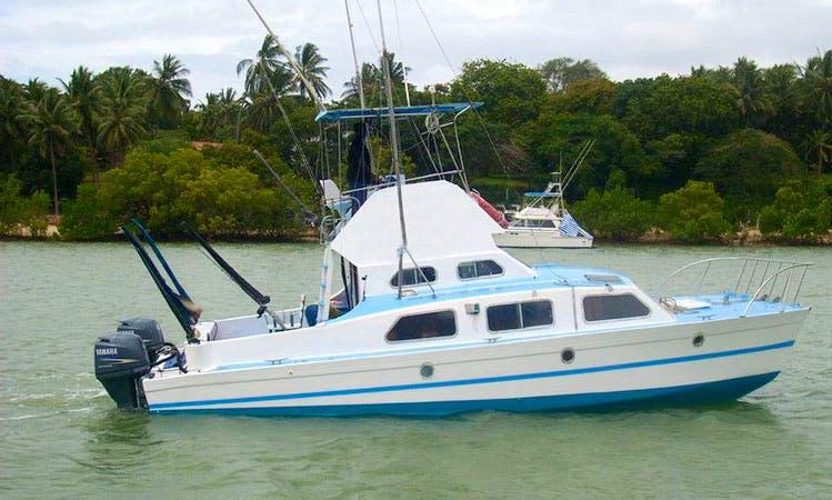 34' Fibre Glass - Twin Hull Catamaran Fishing Charter in Mtwapa