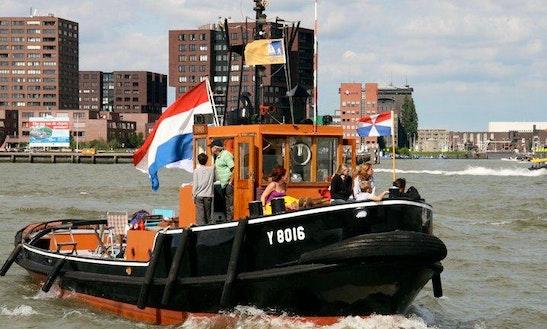 Charter 55' Navy Tug Boat In Rotterdam, Netherlands