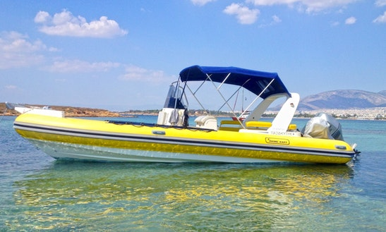 Rent 25' Traveller Rigid Inflatable Boat In Desimi, Greece