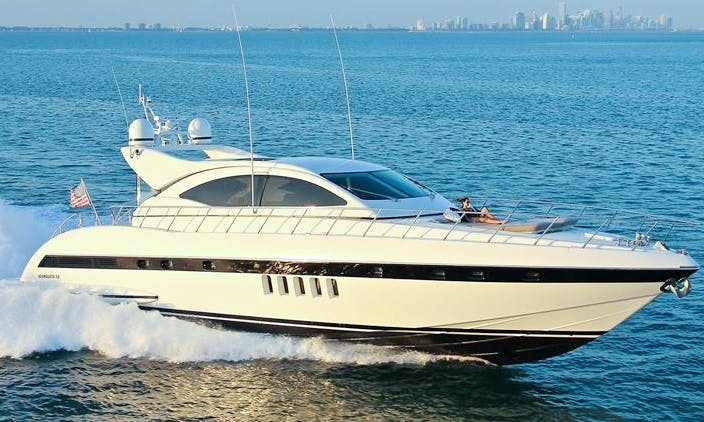 Bimini The Bahamas 72' Mangusta Luxurious Yacht for Charter.